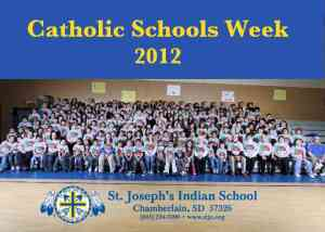 All of St. Joseph's Indian School's youth durning Catholic Schools Week.