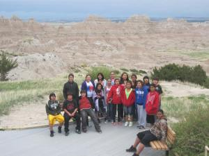 St. Joseph's Indian Shcool's 6th grade class trip to the Badlands.