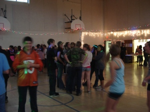 Students at the St. Joseph's Indian School dance.