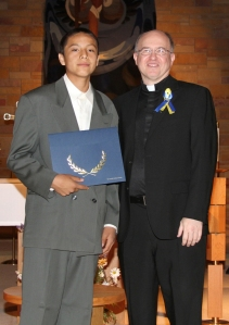 Eight grade graduation at St. Joseph's Indian School.