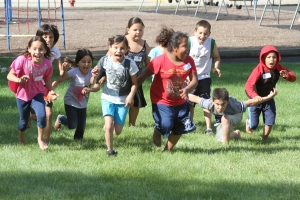 Native American kids running together!