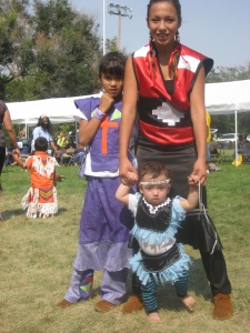Native American kids at St. Joseph's Indian School's powwow!