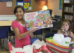 The Lakota children love receiving presents for their birthdays!