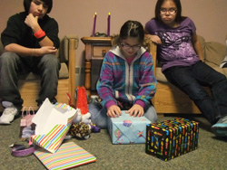 The Native American boys and girls at St. Joseph's love celebrating their birthdays with family.