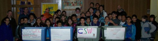 The Lakota children practice generosity by giving food to the poor.