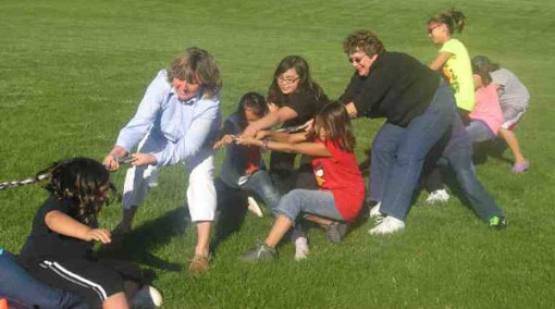 All St. Joseph's homes participate in field day, houseparents included!