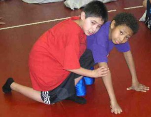 The Lakota children stay healthy and fit at St. Joseph's Indian School.