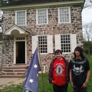 The Lakota (Sioux) boys learned about the Revolutionary War at Valley Forge.
