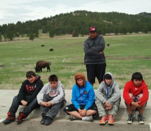 St. Joseph's students visited Custer State Park during their cultural trip.