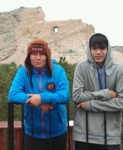 The Crazy Horse Monument, still in progress, was another important stop on the trip.