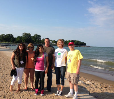 St. Joseph's students and staff visited Chicago after a donor luncheon.