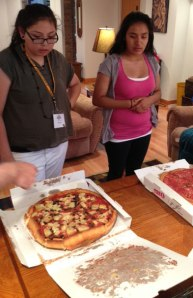 The Lakota students took in the sights and had Chicago-style deep-dish pizza.