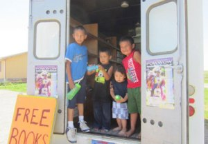 St. Joseph's shares more than 5,000 new and used books with children in reservation communities.