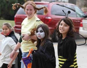 The Lakota children wish you a Happy Halloween