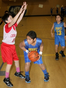 St. Joseph's Braves had several nice assists to contribute to their win.