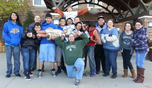 The Lakota boys in the Giles Home went to Minnesota on their home trip.