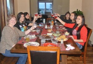 The Lakota girls in the Crane Home love spending time together!