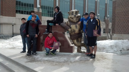 St Joseph's high school boys visited the University of Minnesota during their home trip to Minneapolis.