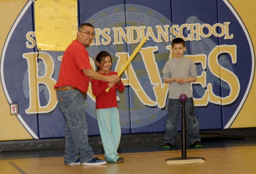 Leonard, t-ball coach and houseparent, is finishing his last year at St. Joseph's.