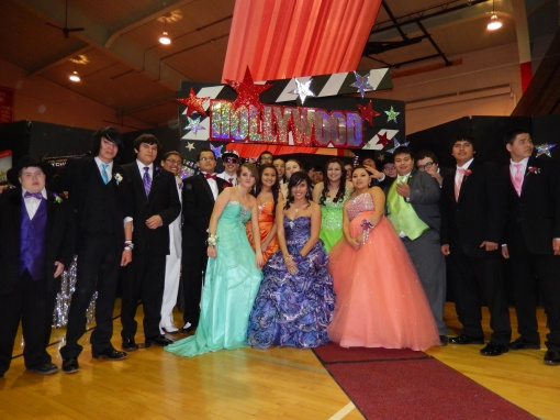 Most of St. Joseph's high school students attend the Chamberlain High School prom last weekend.