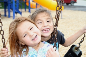 Thanks to the generosity of many friends, the Lakota children have a safe place to play and learn at St. Joseph's Indian School.