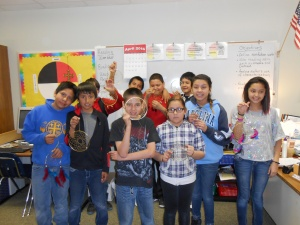 "St. Joseph's sixth graders made their own dreamcatchers after reading the poem ""The Dream Keeper."""