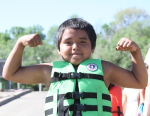 Water safety is one of the many activities for Lakota children at day camp.