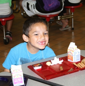 The Lakota children have breakfast, lunch and a snack every day before St. Joseph's bus takes them back home.