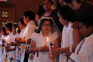 St. Joseph's students and their families decide if they want to be baptized or receive Communion.