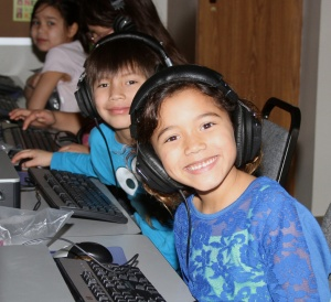 The Lakota students participated in hearing screening.