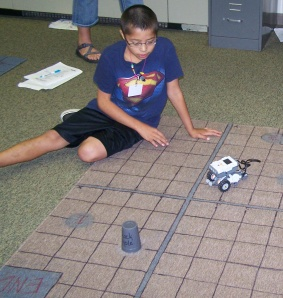The Lakota students conducted experiments that helped them learn about math, science, technology and engineering.