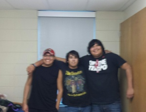 Errol, Wyatt and Cody lived in the same home during their high school years at St. Joseph's Indian School.