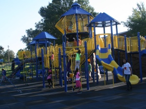 The Lakota boys and girls waited a month, but St. Joseph's new playground is finally done!