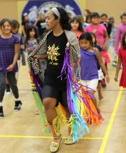 St. Joseph's has many Native American houseparents like Rachel, who teaches students about powwow dances.