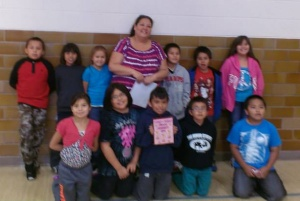 Nancy's third graders won the trophy and pizza party this quarter.