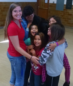 St. Joseph's Family Service Counselors spend time with the Lakota children and their families.