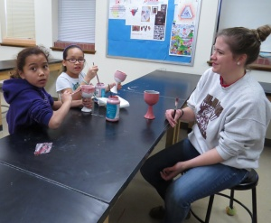Students painted their own blessing cup as part of their preparations to receive the Sacraments.