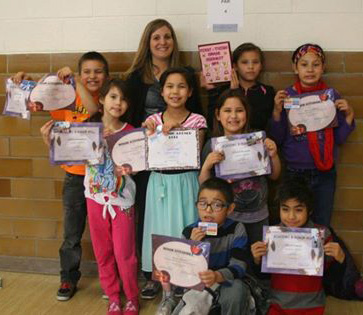 Katie's second graders have a collective GPA of 3.6475.