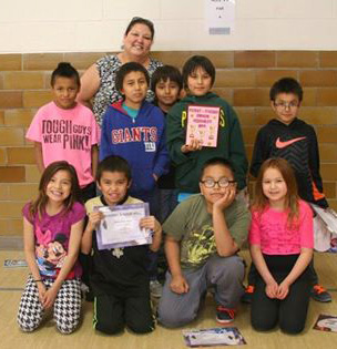 Nancy's third graders are tied with Katie's second graders for best GPA.