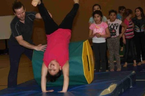 Little by little, the gymnastics program is growing.