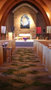 Our Lady of the Sioux Chapel ready for Palm Sunday.