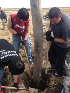 St. Joseph's students went to Outlaw Ranch and helped with a service project on the Pine Ridge Indian Reservation.