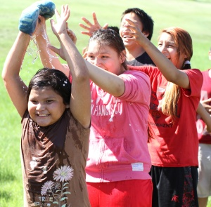 This week, children from the Lower Brule Indian Reservation began their two weeks at day camp.