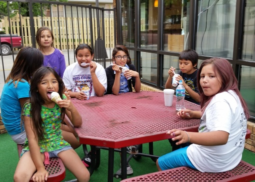 In the summer break home at St. Joseph's, there's free time for ice cream breaks and relaxation.
