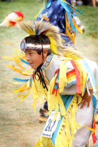 A boy dances during St. Joseph's Annual Powwow.