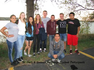 Lakota (Sioux) students with German students