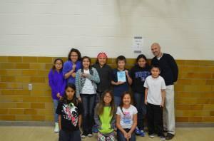 Lakota (Sioux) students with their teacher.